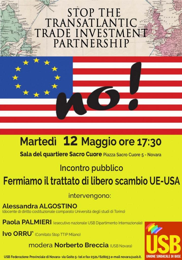 12 Maggio Fermiamo TTIP Novara