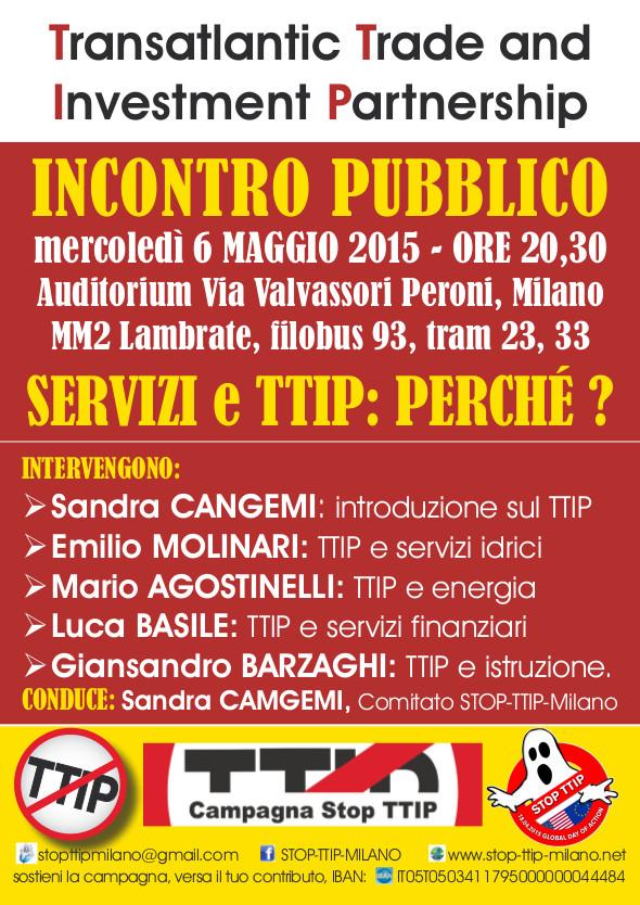 6 Maggio 2015  Stop TTIP Servizi