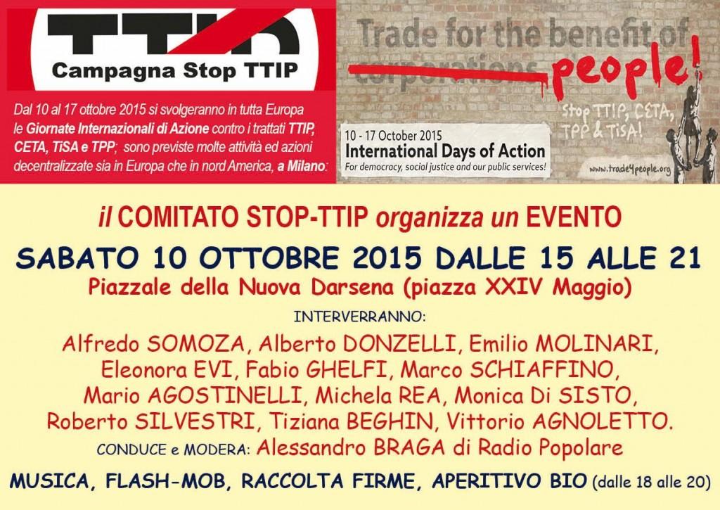 Stop TTIP 10 maggio 2015 Milano