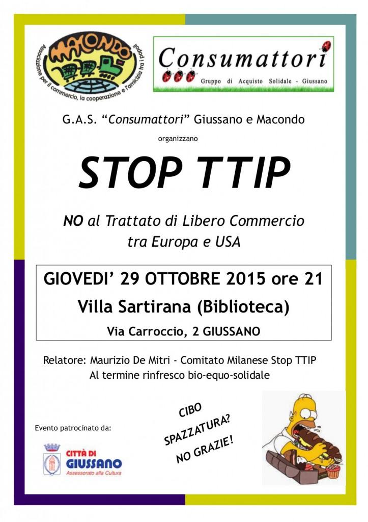 Giussano stop TTIP 29 Ottobre 2015